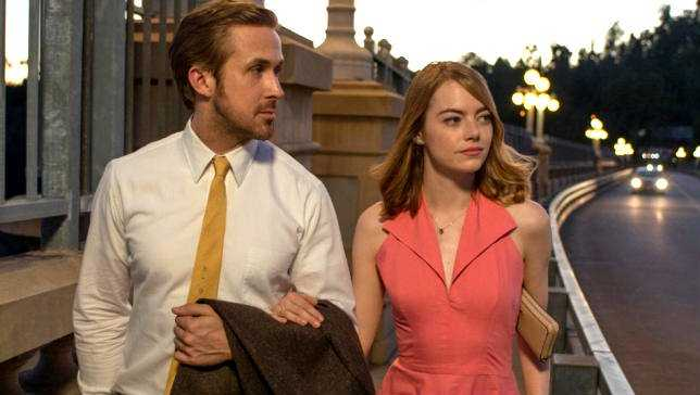 Ryan Gosling Emma Stone in La la land