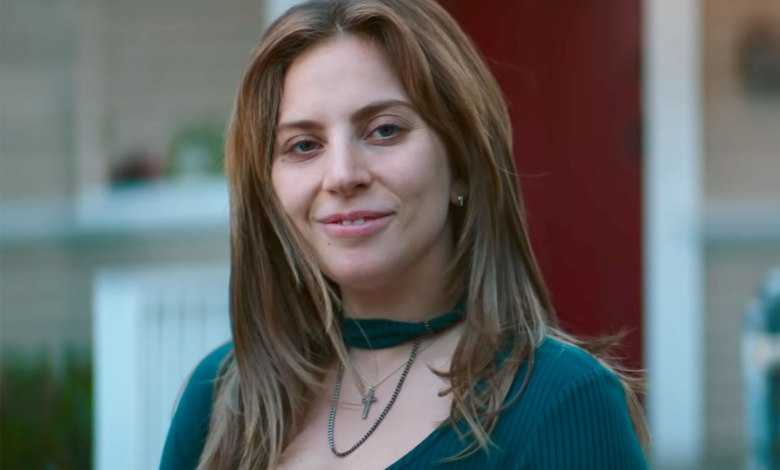 "Un'immagine di Lady Gaga in ""a star is born"""