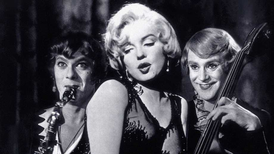 Tony Curtis marilyn Monroe e Jack Lemmon in A qualcuno piace caldo
