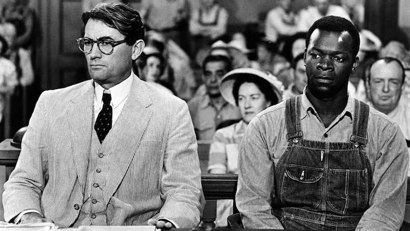 Gregory Peck e Brock Peters, protagonisti del film