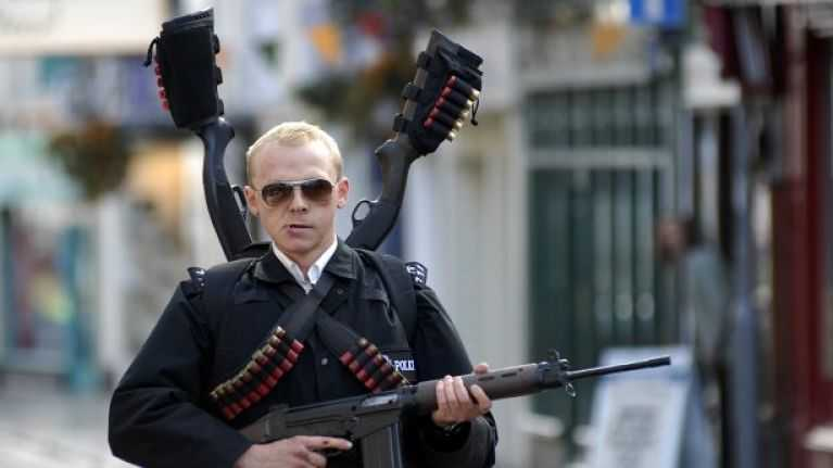 Simon Pegg in Hot Fuzz Fonte: JOE.ie