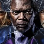 (I Protagonisti di Glass: James McAvoy, Samuel L. Jackson e Bruce Willis)