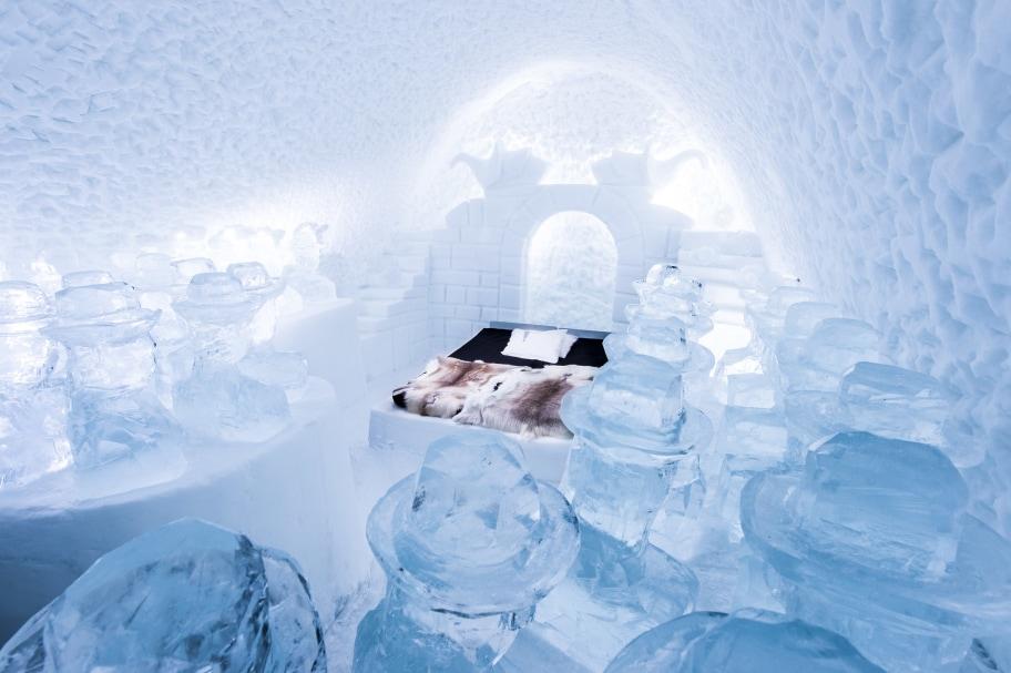 suite hotel di ghiaccio icehotel