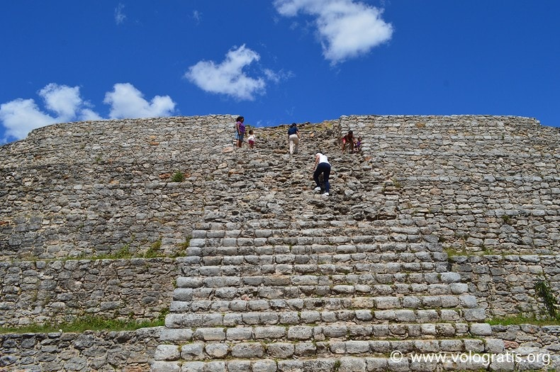 diario di viaggio yucatan messico piramide kinich kakmo