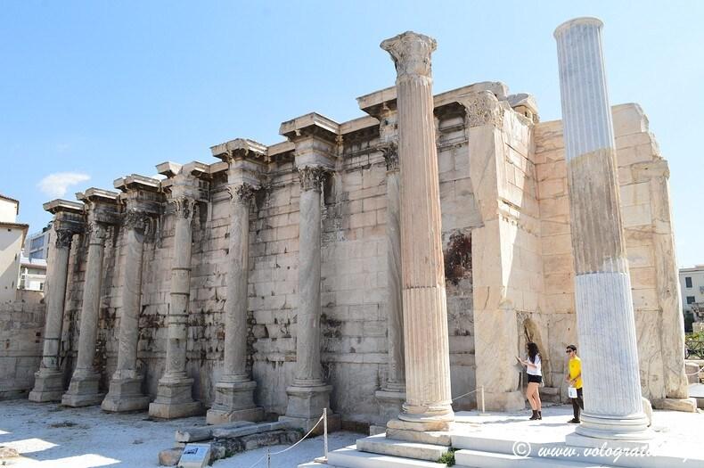 foto atene biblioteca di Adriano