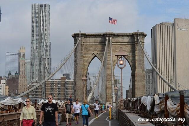 fotografia New york ponte di brooklyn