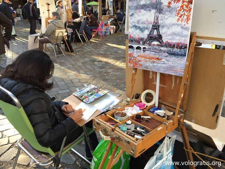 foto parigi pittori