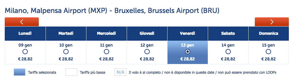 voli brussels airlines