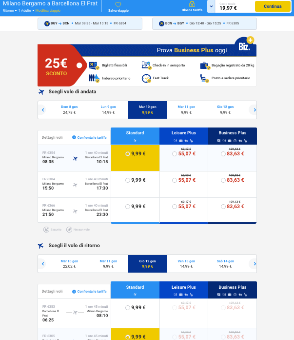 voli low cost ryanair 3 euro