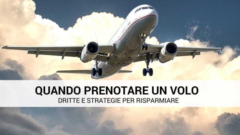 quando prenotare un volo economico