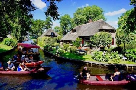 giethoorn olanda villaggio senza strade