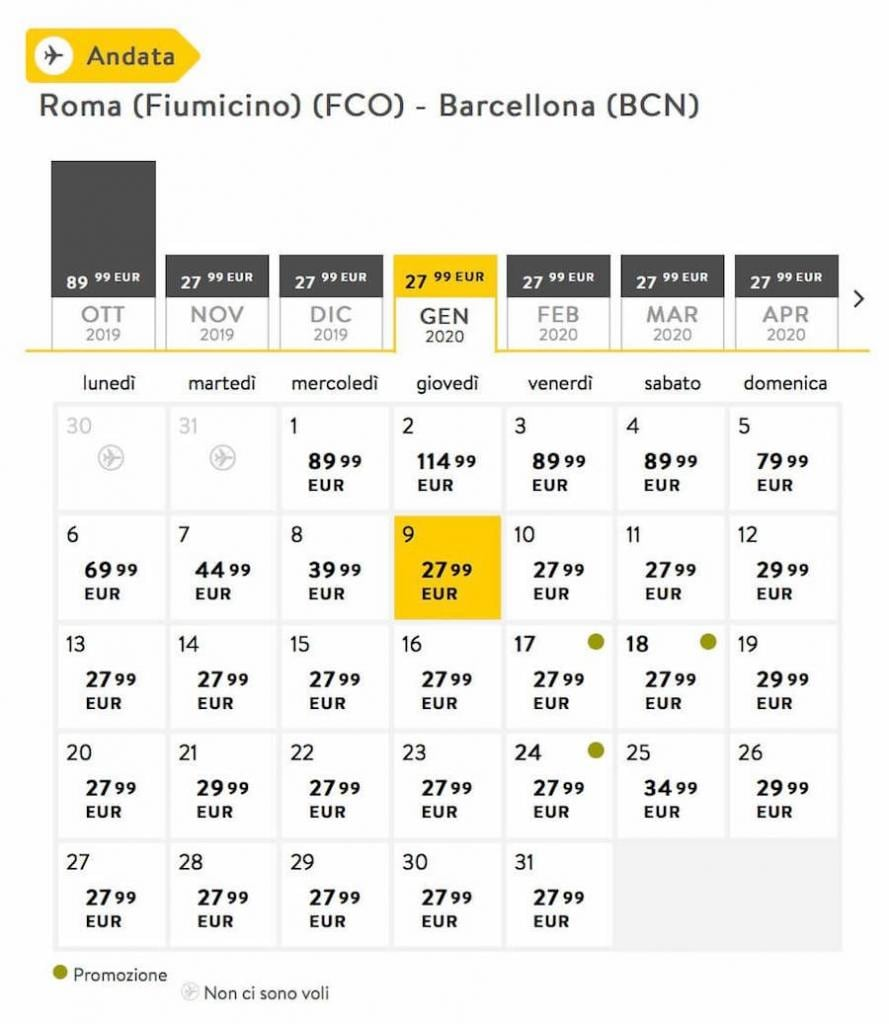 voli low cost vueling 2019