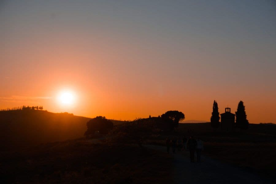 cappella vitaleta tramonto