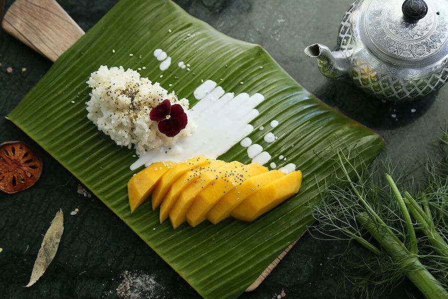 mango sticky rice cibo thailandese