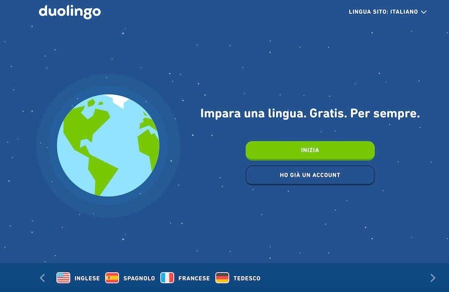 corso inglese online duolingo