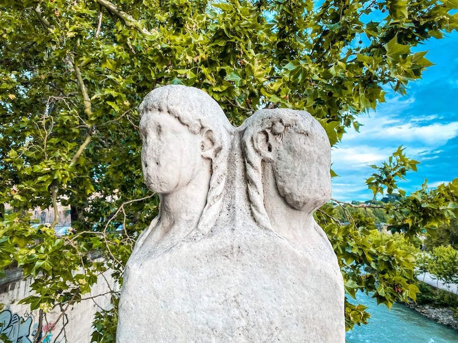 isola tiberina quattro capi