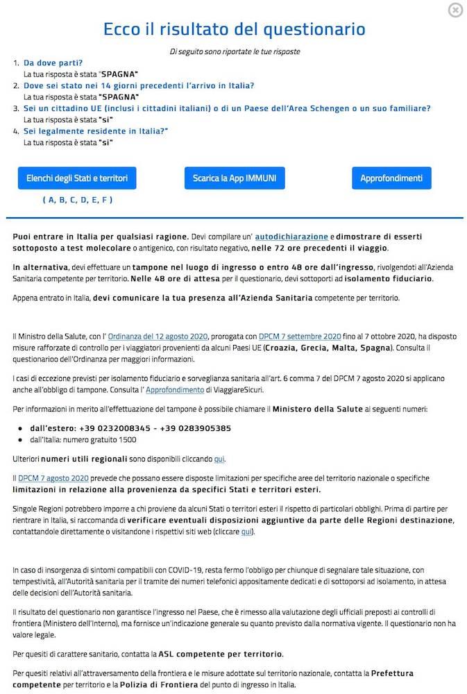 questionario coronavirus farnesina