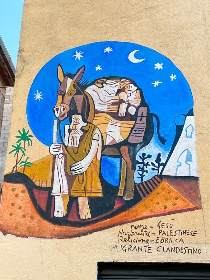 orgosolo murales gesù