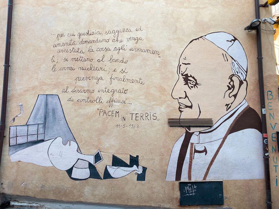 orgosolo murales papa