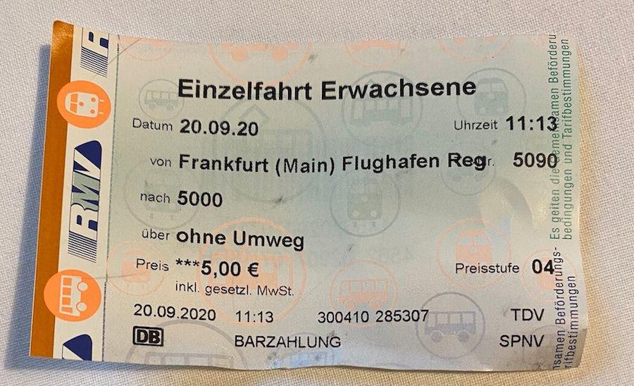 biglietto treno francoforte aeroporto stazione