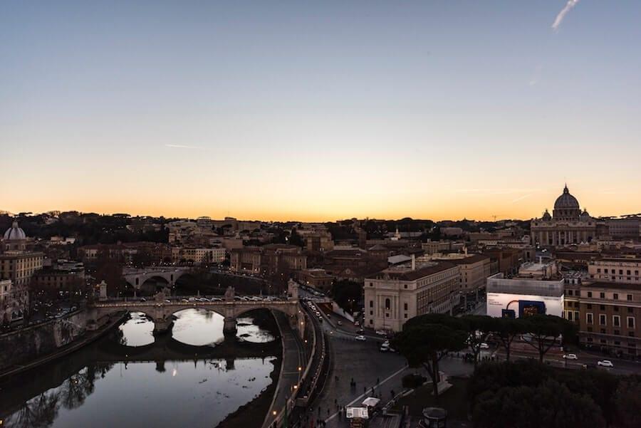 panorama roma castel sant'angelo