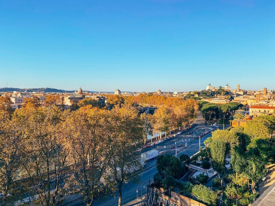 panorama roma giardino aranci