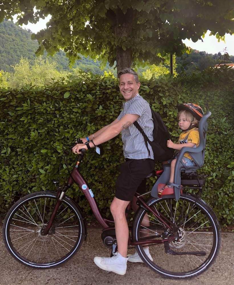 andrea petroni nicholas bicicletta lago di garda