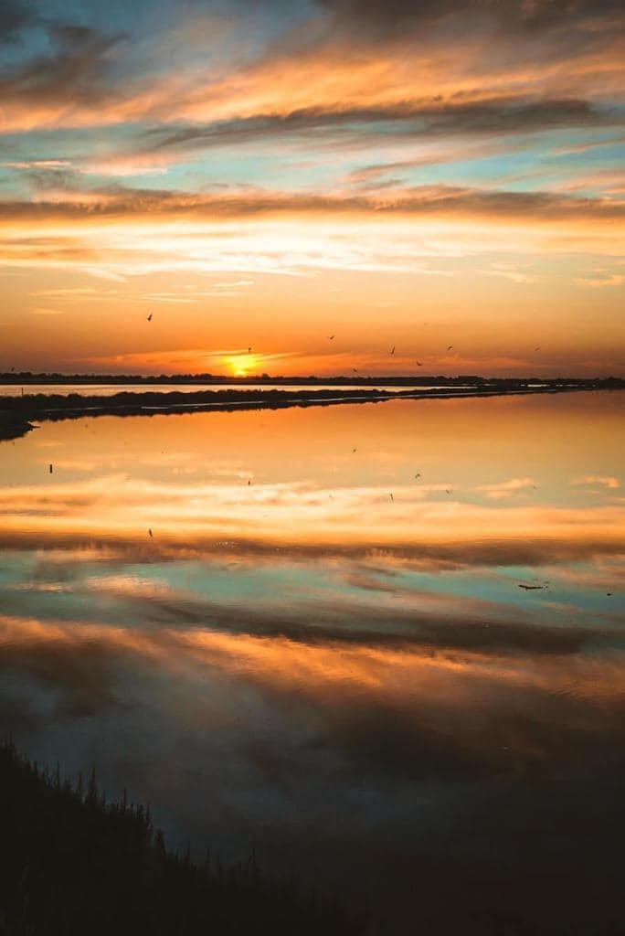 salina cervia tramonto
