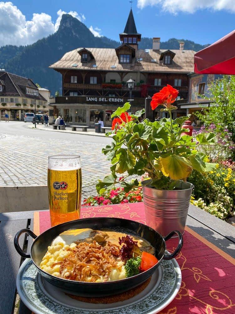 piatto tradizionale bavarese a oberammergau