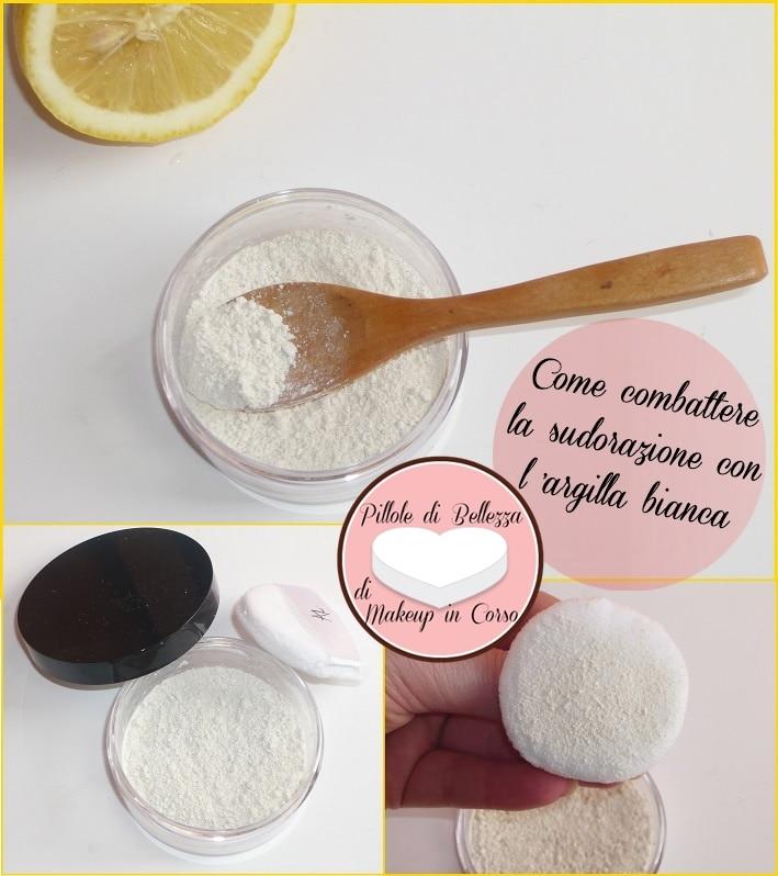 Come combattere la sudorazione con l'argilla bianca