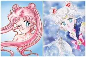 sailor moon capelli rosa