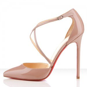 Christian-Louboutin-Crosspiga-120mm-Patent-Leather-Pumps-Nude scarpe da sposa