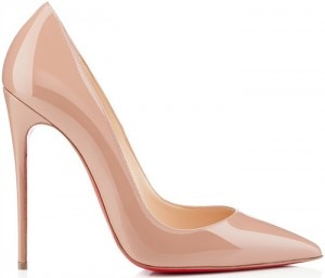 Christian-Louboutin-So-Kate-nude-patent-leather-pump scarpe da sposa