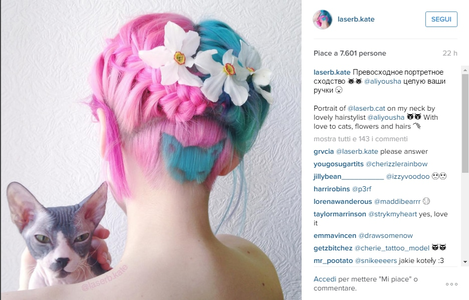 hair tattoo gatto Instagram 5