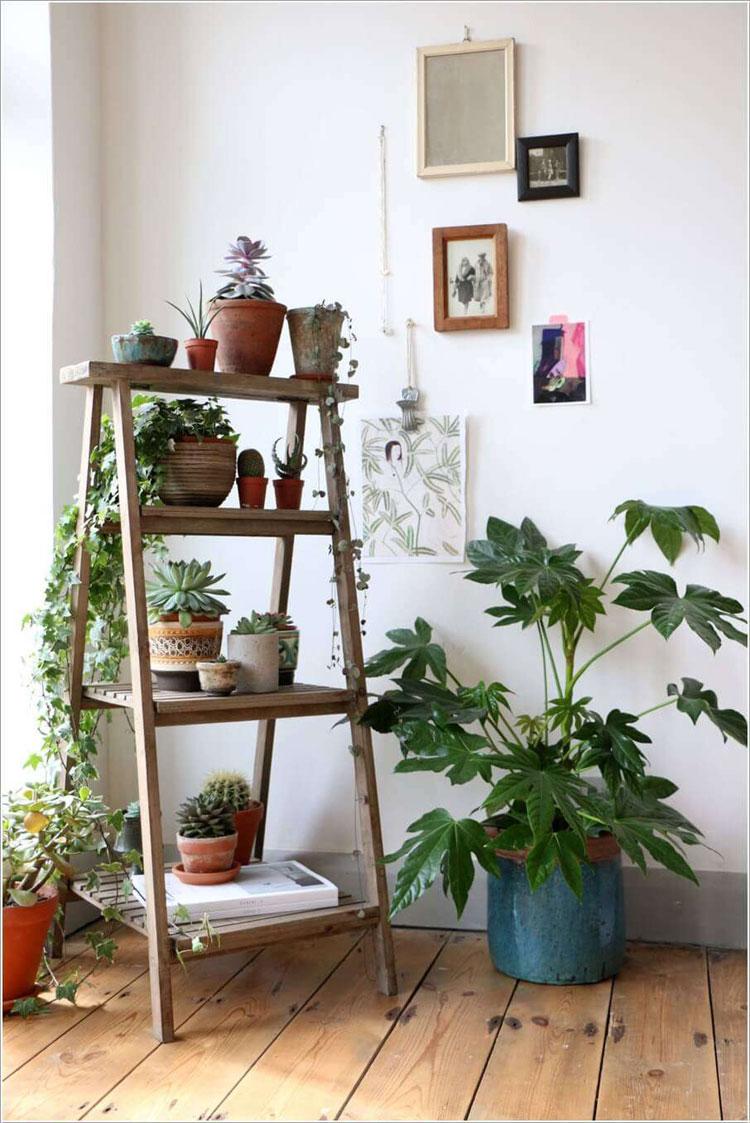 Scala Di Legno Decorativa diy: come realizzare una scala in legno portaoggetti   wegirls