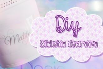 Diy Etichetta Decorativa