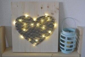 Quadretto luminoso 3D cuore