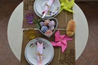 apparecchiare tavola primavera