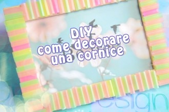 come decorare una cornice