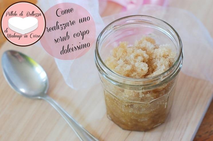 Come realizzare uno scrub corpo dolcissimo zucchero di canna