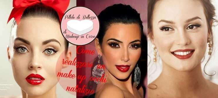 Come realizzare un make-up occhi natalizio