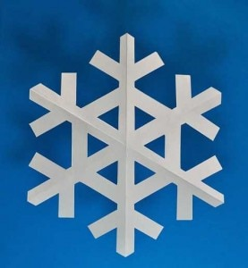 decorazioni diy fiocco di neve natale