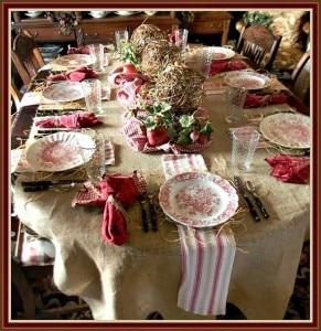 tavola delle feste rustica