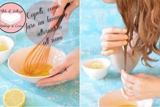 lavare i capelli con l'uovo