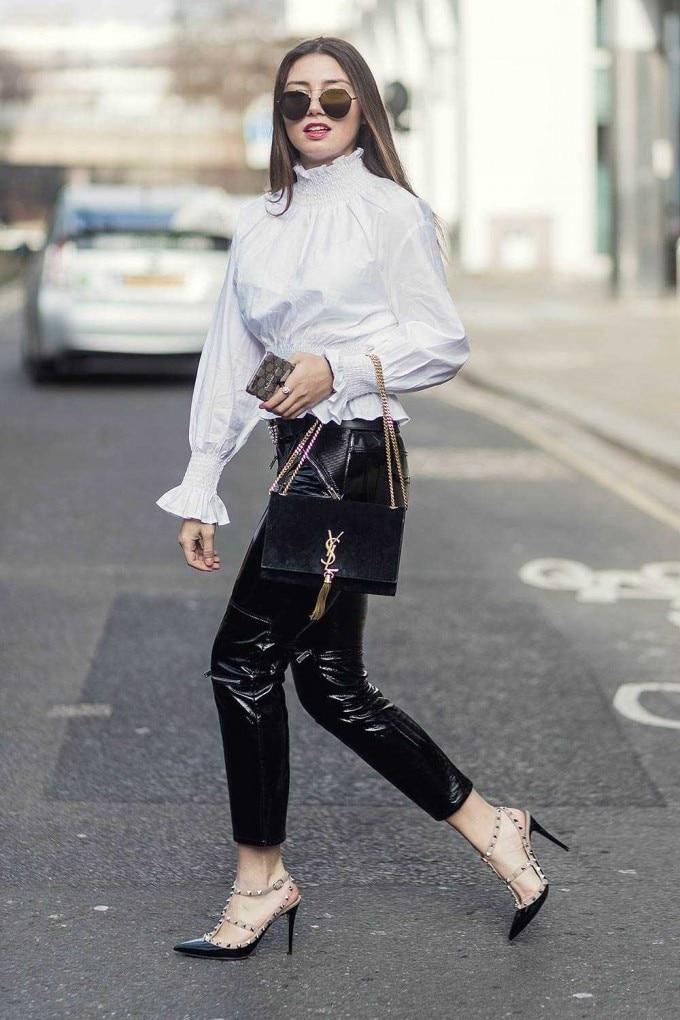 pantaloni in vernice