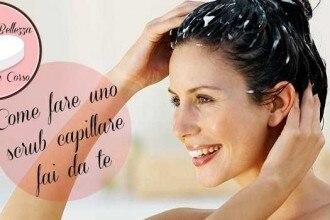 Come fare uno scrub capillare fai da te