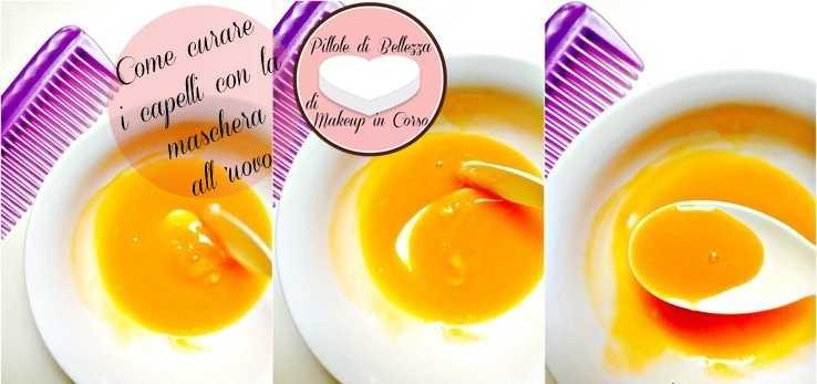 Come curare i capelli con la maschera all'uovo