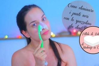 Come eliminare i punti neri con lo spazzolino da denti