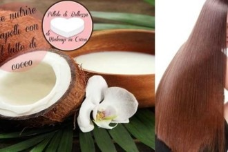 Come nutrire i capelli con il latte di cocco